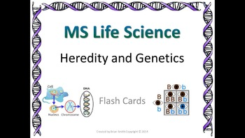 Life Science Heredity and Genetics Flash Cards