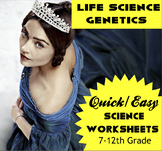 """MS NGSS: Genetic Disorder DBQ """"Mystery of Queen Victoria"""""""