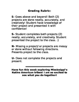 MS Native American Tribe Project