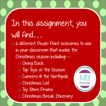 MS POWERPOINT:  Christmas Holiday Tasks