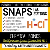 MS-PS1-1 Chemical Bonding Lab Stations Activity - Printable & Digital