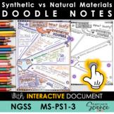 MS-PS1-3 Matter Doodle Notes plus INTERACTIVE!