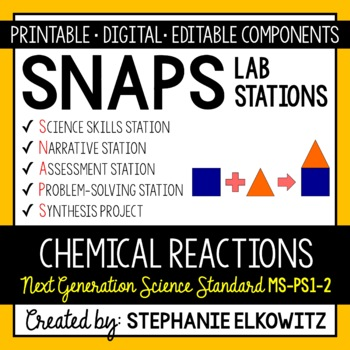 MS-PS1-2 Chemical Reactions Lab Stations Activity