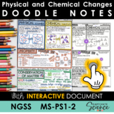 MS-PS1-2 Physical and Chemical Changes Doodle Notes plus I