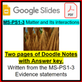 MS-PS1-3 Doodle Notes Natural Resources vs. Synthetic Materials (PPTX file)