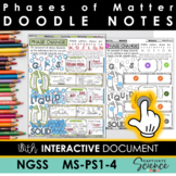 MS-PS1-4 Phases of Matter Doodle Notes plus INTERACTIVE!
