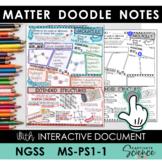 MS-PS1-1 Matter Doodle Notes plus INTERACTIVE!