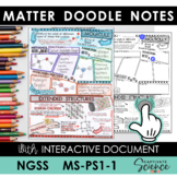 MS-PS1-1 Atoms and Molecules Doodle Notes plus INTERACTIVE!