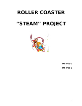 MS-PS3-1, MS-PS3-2 Roller Coaster STEAM Project