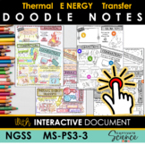 MS-PS3-3 Conduction, Convection, Radiation (NGSS) Doodle Notes Plus INTERACTIVE