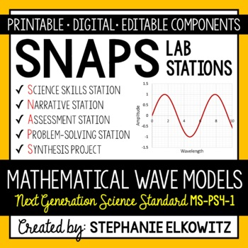 MS-PS4-1 Mathematical Models of Waves Lab Stations Activity
