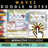 MS-PS4-1 Waves NGSS Doodle Notes with Interactive!