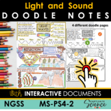 MS-PS4-2 Light and Sound Waves Doodle Notes with INTERACTI