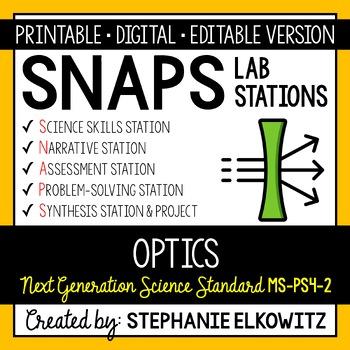 MS-PS4-2 Optics Lab Stations Activity