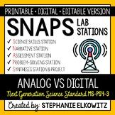 MS-PS4-3 Analog vs. Digital Signals Lab Stations Activity