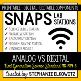 MS-PS4-3 Analog vs. Digital Signals Lab Stations Activity