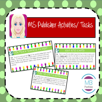 MS PUBLISHER:  Christmas Holiday Activities/ Tasks