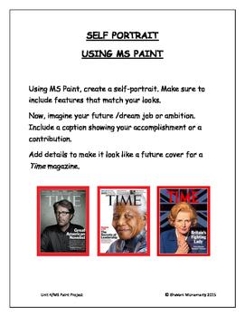 MS Paint Project - Self Portrait