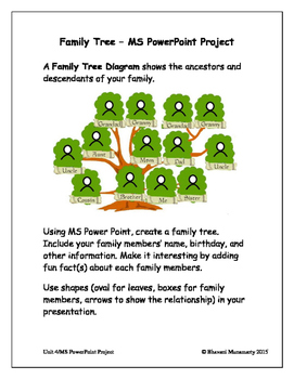 MS PowerPoint Project - Family Tree