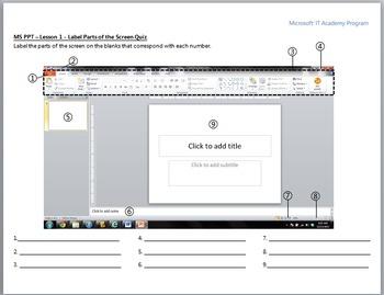 MS Powerpoint 2010 Screen Quiz