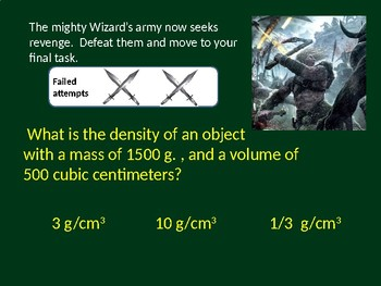 MS Science Quiz GAME PPT