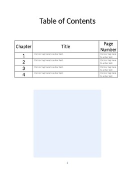 MS Word Fiction or Nonfiction Chapter Book Template