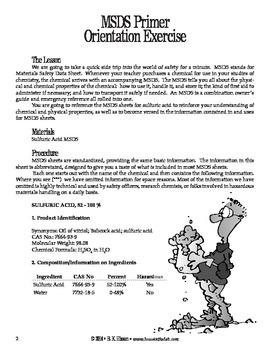 MSDS Primer (Chemistry)