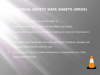 MSDS documents and student investigators