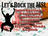 MSL Introduction and Constructed Response Practice for English III