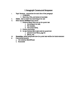 MSTEP Constructed Response Outline