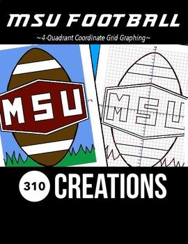 MSU Football Coordinate Grid Graphing