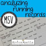 MSV Cheat Sheet - Analyzing Running Records