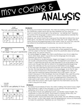 MSV Error Analysis Sheet