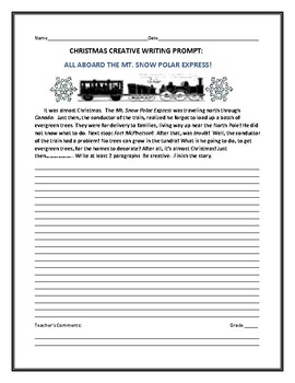 MT. SNOW POLAR EXPRESS: A CHRISTMAS WRITING PROMPT