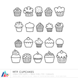 MTF Cupcakes Doodles :: Commercial Use :: Miss Tiina Fonts