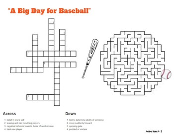 MTH A Big Day for Baseball #29 - Comprehension questions & additional activities
