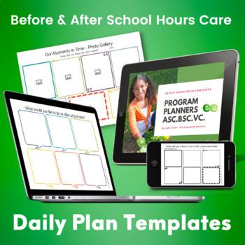 MTOP, OSHC Program Planner Templates Bundle - Editable/Printable/Color/B&W