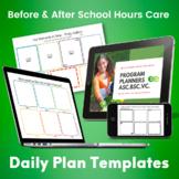 MTOP, OSHC Program Planner Templates - Editable/Printable/