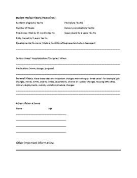 MTSS Parent Questionnaire