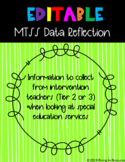 MTSS/RTI Data Reflection