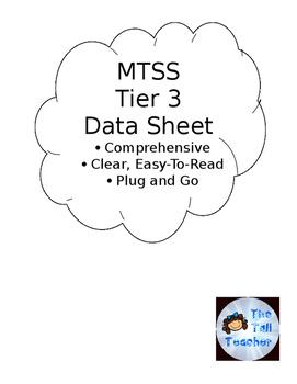 MTSS Tier 3 Meeting Data Sheet