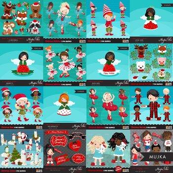 MUJKA CHRISTMAS CLIPART BUNDLE PNG GRAPHICS clip art