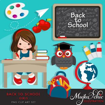 MUJKA Back to school Clipart Bundle PNG Clip art