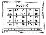 MULT-O!  A multiplication game