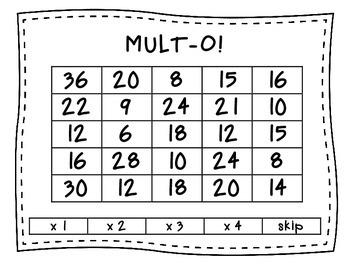 MULT-O!  A multiplication game