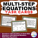MULTI-STEP EQUATIONS  Word Problems - Task Cards {40 Cards}
