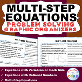 MULTI-STEP EQUATIONS Word Problems with Graphic Organizer