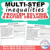 MULTI-STEP INEQUALITIES Word Problems with Graphic Organizers