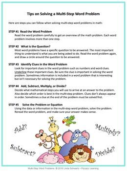 MULTI-STEP WORD PROBLEMS • Grade 3