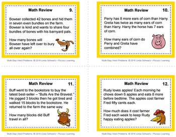 MULTI-STEP WORD PROBLEMS  Grade 4